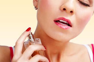 Нанесение парфюма на кожу
